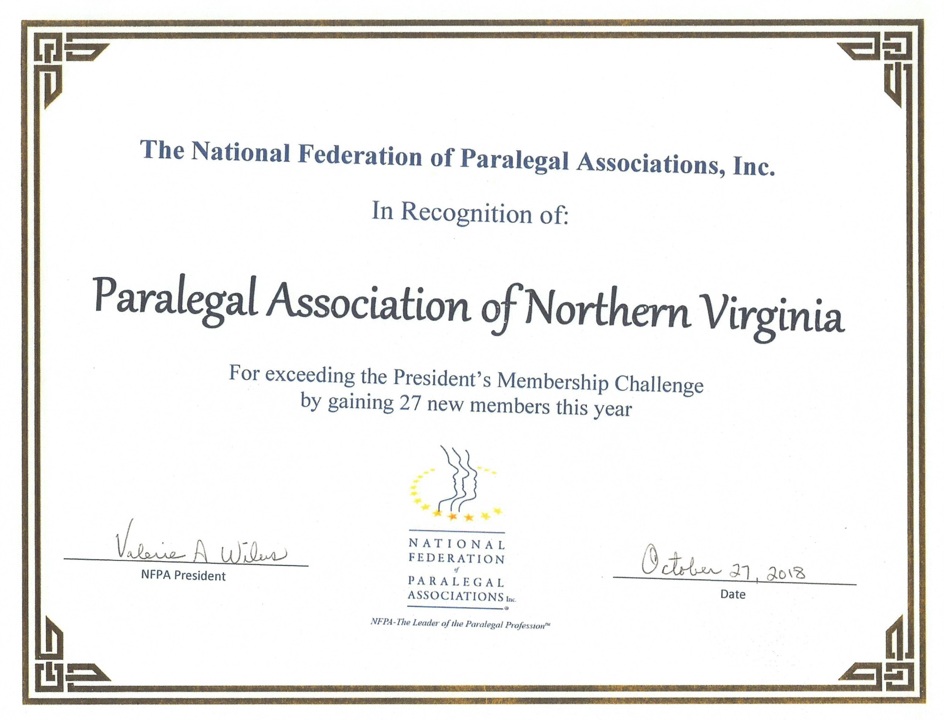 Paralegal Association Of Northern Virginia Home